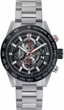 Buy this new Tag Heuer Carrera Caliber Heuer 01 Skeleton 43mm car201v.ba0714 mens watch for the discount price of £3,740.00. UK Retailer.