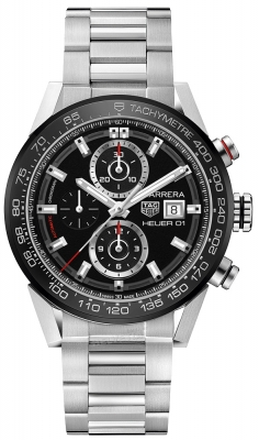 Buy this new Tag Heuer Carrera Caliber Heuer 01 43mm car201z.ba0714 mens watch for the discount price of £3,650.00. UK Retailer.