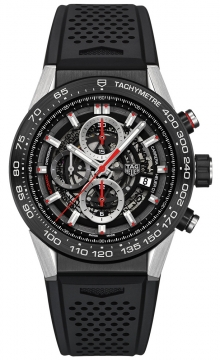 Buy this new Tag Heuer Carrera Caliber Heuer 01 Skeleton 45mm car2a1z.ft6044 mens watch for the discount price of £3,735.00. UK Retailer.