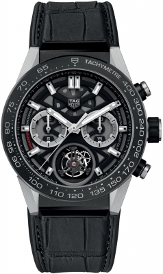 Buy this new Tag Heuer Carrera Calibre HEUER 02T Tourbillon Chronograph 45mm car5a8y.fc6377 mens watch for the discount price of £11,602.00. UK Retailer.