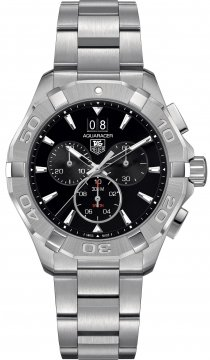 Buy this new Tag Heuer Aquaracer Quartz Chronograph cay1110.ba0927 mens watch for the discount price of £1,487.00. UK Retailer.