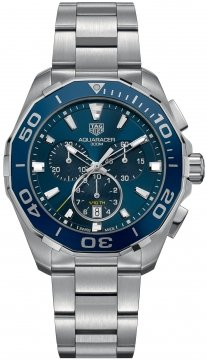Buy this new Tag Heuer Aquaracer Quartz Chronograph cay111b.ba0927 mens watch for the discount price of £1,572.00. UK Retailer.