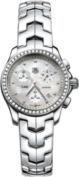 Tag Heuer Link Chronograph Ladies Ladies watch, model number - cjf1314.ba0580, discount price of £3,125.00 from The Watch Source