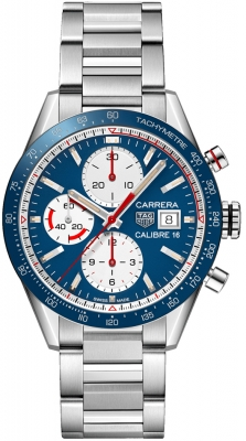Buy this new Tag Heuer Carrera Calibre 16 Chronograph 41mm cv201ar.ba0715 mens watch for the discount price of £3,102.00. UK Retailer.