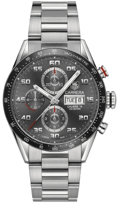Buy this new Tag Heuer Carrera Day Date Automatic Chronograph 43mm cv2a1u.ba0738 mens watch for the discount price of £3,272.00. UK Retailer.