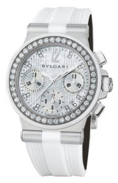 Bulgari Diagono Chronograph 35mm Ladies watch, model number - dg35wsdwvdch/8, discount price of £9,350.00 from The Watch Source