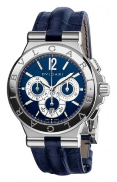 Bulgari Diagono Chronograph Calibre 303 42mm Mens watch, model number - dg42c3sldch, discount price of £7,771.00 from The Watch Source