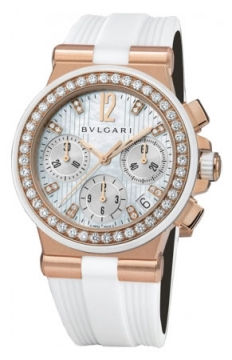 Bulgari Diagono Chronograph 35mm Ladies watch, model number - dgp35wgdwvdch/8, discount price of £21,250.00 from The Watch Source