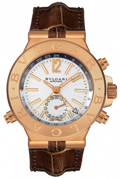 Bulgari Diagono Automatic GMT 40mm Mens watch, model number - dgp40c6gldgmt, discount price of £12,044.00 from The Watch Source