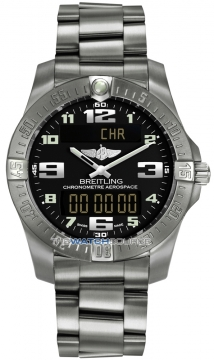 Breitling Aerospace Evo Mens watch, model number - e7936310/bc27-ti, discount price of £2,810.00 from The Watch Source