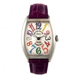 Franck Muller Cintree Curvex Ladies watch, model number - 7502 QZ CODR SS Silver, discount price of £4,400.00 from The Watch Source