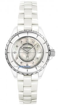 Chanel J12 Quartz 33mm Ladies watch, model number - h2422, discount price of £3,630.00 from The Watch Source