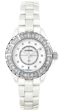 Chanel J12 Quartz 33mm Ladies watch, model number - h2429, discount price of £9,710.00 from The Watch Source