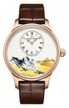 Jaquet Droz Les Ateliers d'Art Petite Heure Minute Enamel Painting 39mm Midsize watch, model number - j005013204 HORSES, discount price of £20,630.00 from The Watch Source