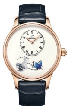 Jaquet Droz Les Ateliers d'Art Petite Heure Minute Enamel Painting 39mm Mens watch, model number - j005013207 LOVING BUTTERFLY, discount price of £64,260.00 from The Watch Source