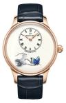 Jaquet Droz Les Ateliers d'Art Petite Heure Minute Enamel Painting 39mm j005013207 LOVING BUTTERFLY watch