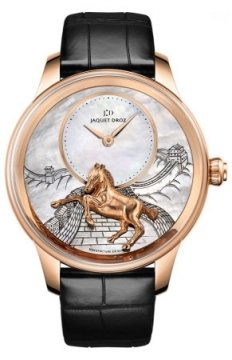 Jaquet Droz Les Ateliers d'Art Petite Heure Minute Relief Mens watch, model number - j005023275 HORSE, discount price of £41,940.00 from The Watch Source