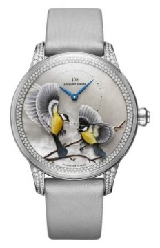 Jaquet Droz Les Ateliers d'Art Petite Heure Minute Relief Ladies watch, model number - j005024575 SEASONS WINTER, discount price of £48,300.00 from The Watch Source