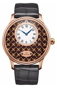 Jaquet Droz Les Ateliers d'Art Petite Heure Minute Paillonnee Mens watch, model number - j005033247, discount price of £28,395.00 from The Watch Source