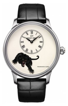 Jaquet Droz Les Ateliers d'Art Petite Heure Minute Enamel Painting 43mm Mens watch, model number - j005034234 PANTHERE, discount price of £18,650.00 from The Watch Source