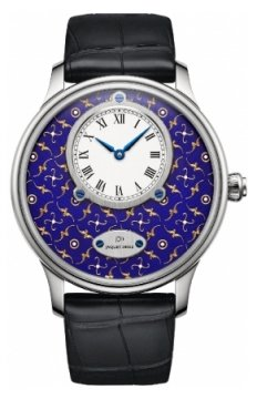 Jaquet Droz Les Ateliers d'Art Petite Heure Minute Paillonnee Mens watch, model number - j005034258, discount price of £28,395.00 from The Watch Source