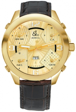 Jacob & Co Five Time Zone - 47mm Mens watch, model number - JC-10yg, discount price of £16,980.00 from The Watch Source