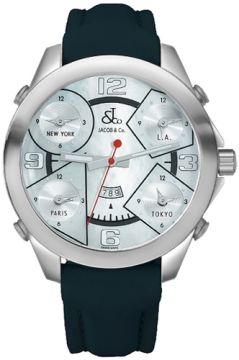 Jacob & Co Five Time Zone - 47mm Mens watch, model number - JC-14, discount price of £4,260.00 from The Watch Source