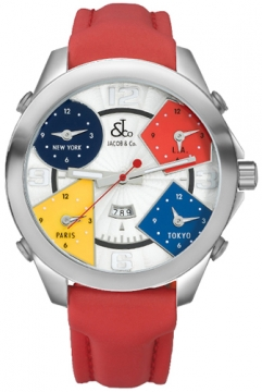 Jacob & Co Five Time Zone - 47mm Mens watch, model number - JC-1, discount price of £3,960.00 from The Watch Source