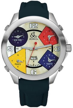 Jacob & Co Five Time Zone - 47mm Mens watch, model number - JC-25, discount price of £4,260.00 from The Watch Source