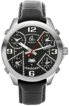 Jacob & Co Five Time Zone - 47mm Mens watch, model number - JC-2bcda, discount price of £5,460.00 from The Watch Source
