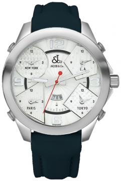 Jacob & Co Five Time Zone - 47mm Mens watch, model number - JC-3, discount price of £3,960.00 from The Watch Source