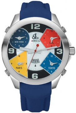 Jacob & Co Five Time Zone - 47mm Mens watch, model number - JC-4, discount price of £4,260.00 from The Watch Source