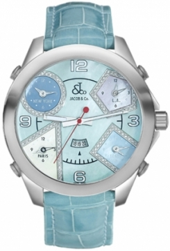 Jacob & Co Five Time Zone - 47mm Mens watch, model number - JC-42da, discount price of £5,460.00 from The Watch Source