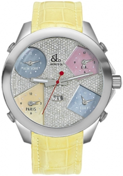 Jacob & Co Five Time Zone - 47mm Mens watch, model number - JC-44, discount price of £10,140.00 from The Watch Source