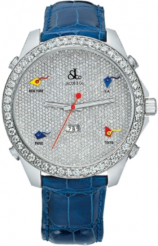 Jacob & Co Five Time Zone - 47mm, 3.25ct Bezel Mens watch, model number - JC-53 3.25 carat bezel, discount price of £20,460.00 from The Watch Source