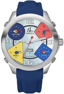 Jacob & Co Five Time Zone - 47mm Mens watch, model number - JC-8, discount price of £4,260.00 from The Watch Source