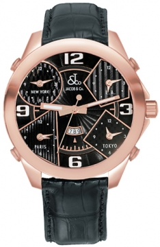 Jacob & Co Five Time Zone - 47mm Mens watch, model number - JC-9rg, discount price of £16,980.00 from The Watch Source