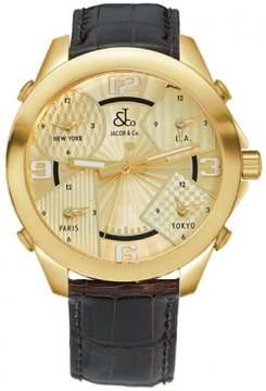 Jacob & Co Five Time Zone - 40mm Mens watch, model number - JC-M10, discount price of £14,370.00 from The Watch Source