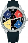 Jacob & Co Five Time Zone - 40mm, 2ct Bezel JC-M11 2.00 carat bezel watch