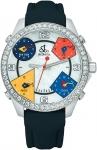 Jacob & Co Five Time Zone - 40mm, 2ct Bezel JC-M13 2.00 carat bezel watch