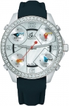 Jacob & Co Five Time Zone - 40mm, 2ct Bezel JC-M14 2.00 carat bezel watch