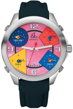 Jacob & Co Five Time Zone - 40mm Mens watch, model number - JC-M22, discount price of £3,540.00 from The Watch Source