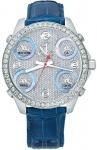 Jacob & Co Five Time Zone - 40mm, 2ct Bezel JC-m30b 2.00 carat bezel watch