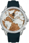 Jacob & Co Five Time Zone - 40mm, 2ct Bezel JC-M47sbww 2.00 carat bezel watch