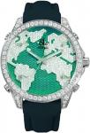 Jacob & Co Five Time Zone - 40mm, 2ct Bezel JC-M47sg 2.00 carat bezel watch