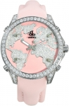 Jacob & Co Five Time Zone - 40mm, 2ct Bezel JC-M47sp 2.00 carat bezel watch