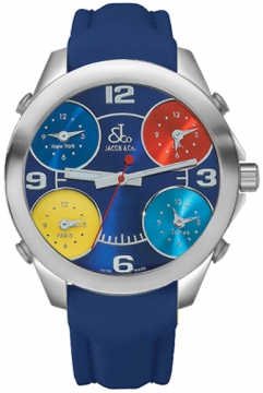 Jacob & Co Five Time Zone - 40mm Mens watch, model number - JC-M6, discount price of £3,300.00 from The Watch Source