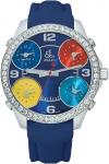Jacob & Co Five Time Zone - 40mm, 2ct Bezel JC-M6 2.00 carat bezel watch