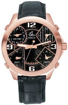 Jacob & Co Five Time Zone - 40mm Mens watch, model number - JC-M9, discount price of £14,370.00 from The Watch Source