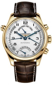 Longines Master Retrograde Power Reserve 44mm Mens watch, model number - L2.716.8.78.3, discount price of £7,275.00 from The Watch Source
